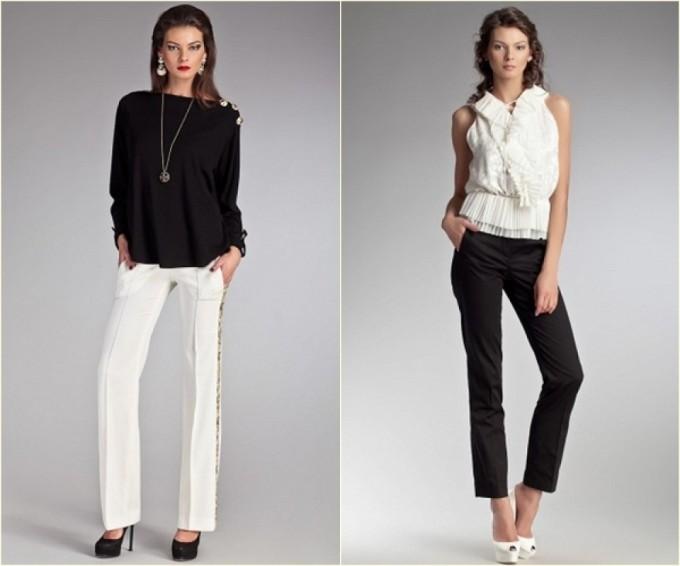 брюки; женская одежда