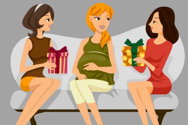 беременная постер
