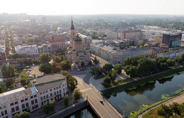 Вид Харькова с высоты птичьего полета