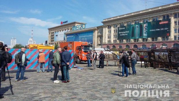 Мэрия Харькова назвала волонтерскую палатку на площади Свободы «незаконным объектом»