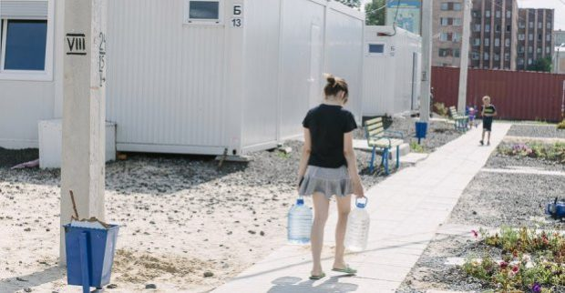 В Харькове решают проблему с проживанием в модульном городке