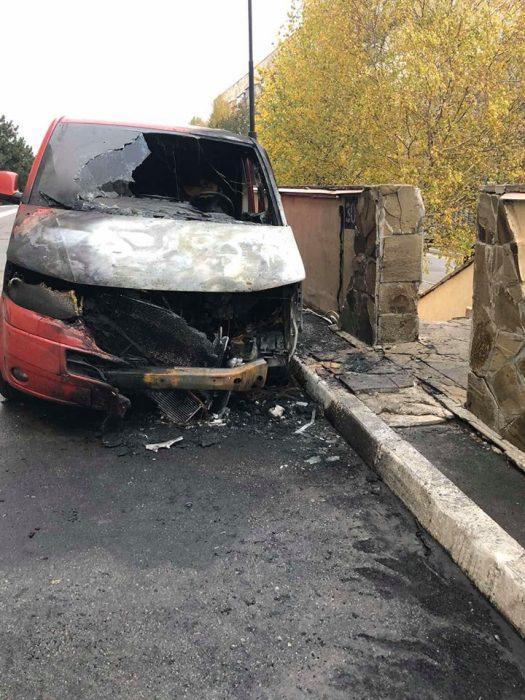 У дома, где живет кандидат на должность председателя ХОГА Алексей Кучер, горел автомобиль