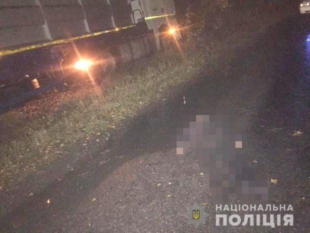 На Харьковщине грузовик сбил пешехода