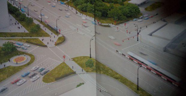 Завершается разработка проекта перекрестка проспект Московский - улица Полевая