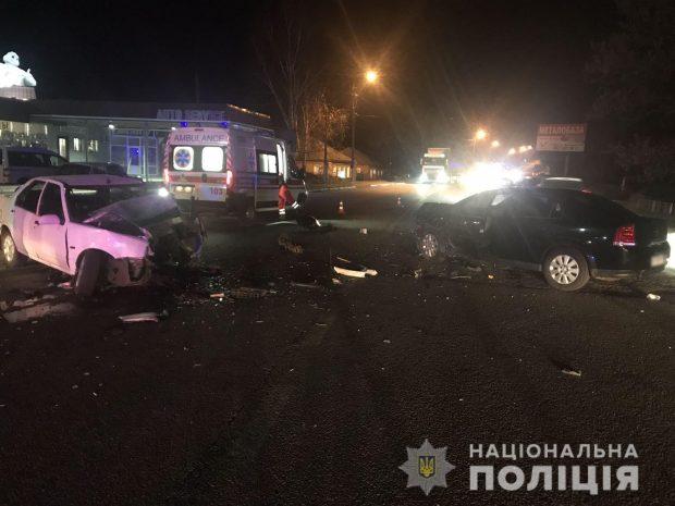 Под Харьковом в результате аварии пострадали два человека