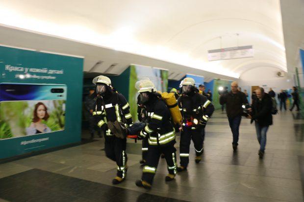 На станции метро «Южный вокзал» прошли учения