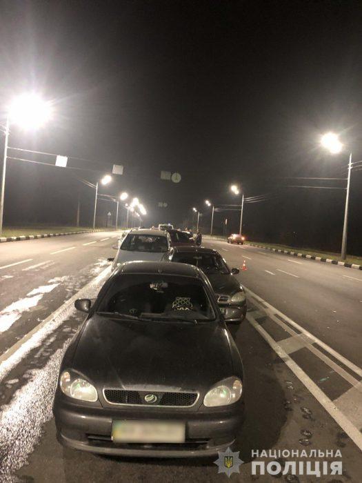 В Харькове произошло ДТП с участием пяти автомобилей
