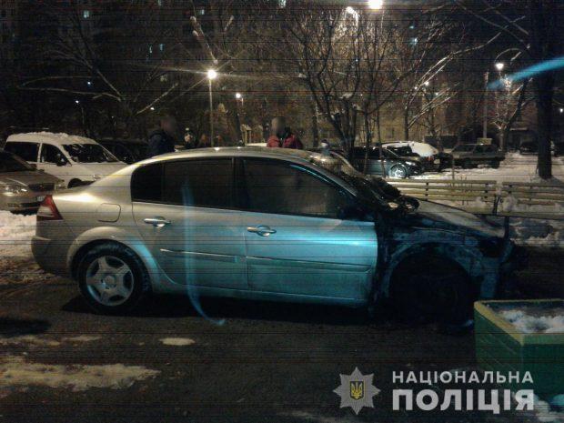 В Харькове сгорел автомобиль